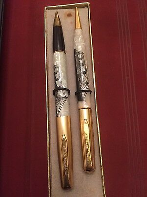 Vintage Ritepoint pen and Mechanical Pencil w/ Queen Mary Cunard White Star Line