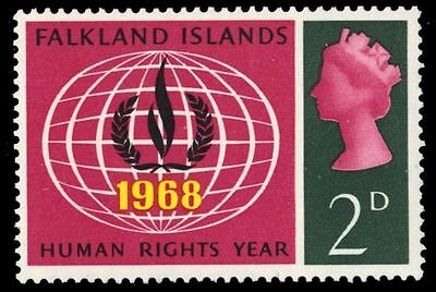 FALKLAND ISLANDS 162 (SG228) - Human Rights Flame (pf47724)
