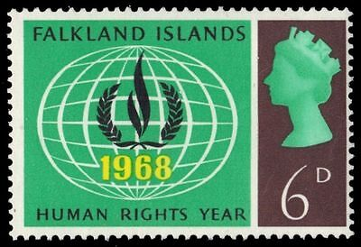 FALKLAND ISLANDS 163 (SG229) - Human Rights Flame (pf47725)