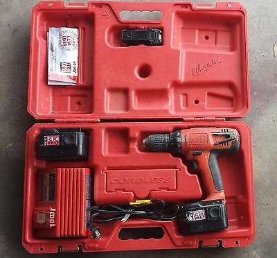 "Milwaukee 0612-20 Cordless 1/2"" 14.4V Drill Driver Used"