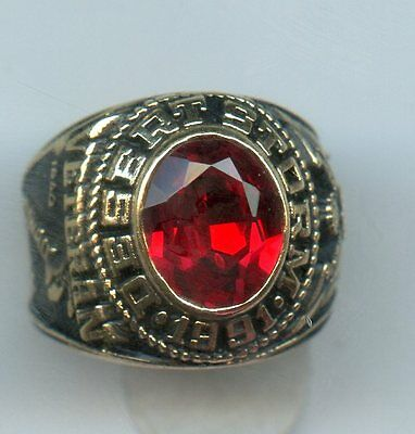 Gold Plated Desert Storm 1991 College Ring
