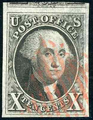 US Scott # 2 Used  -  4 Large Margins with PSE Certificate GRADED VF 80