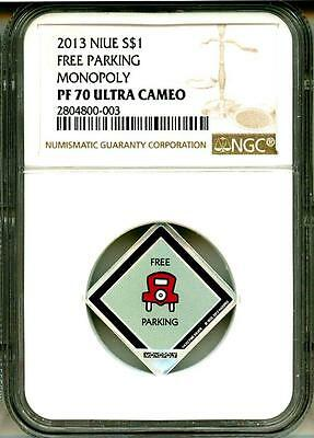 2013 S$1 Niue Monopoly Free Parking NGC PF70 Ultra Cameo