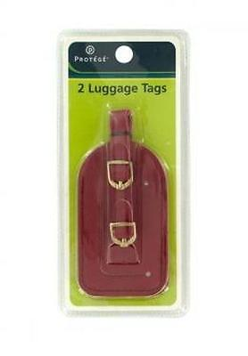 """2 PC Vinyl Luggage Tags Set - Identification Tag For Suitcase 4-1/4"""" x 2 1/4"""""""