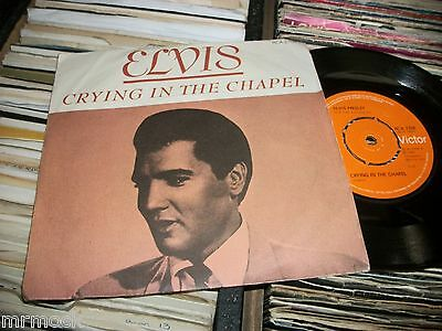 "Elvis Presley- Crying In The Chapel Vinyl 7"" 45Rpm Ps"