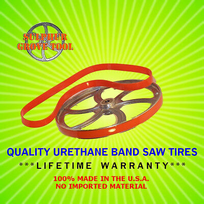 """Quality Urethane Band Saw Tires for 14"""" Grizzly G1019Z--Rplc Part # P1019025"""