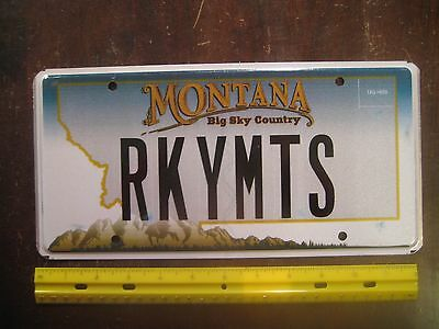 License Plate, Montana, Personalized Vanity: RKY MTS, Rocky Mountains