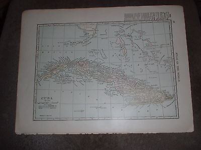 An interesting map of Cuba & West Indies (back to back) by C S Hammond