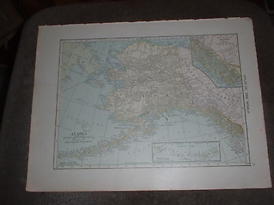 A Vintage map of Alaska & Arctic/Antarctic Regions (back to back) by C S Hammond