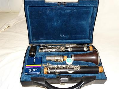 Thibouville Vintage Wood Clarinet In Case,buffet Mouth Piece Fitting.