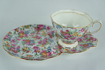 Vintage Royal Albert Bone China Snack Plate Teacup England (1of6) [Y7-W6-A8-E9]