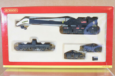 HORNBY R6183 WEATHERED BR BLACK 75 TON OPERATING BREAKDOWN CRANE SET DS1580 ni