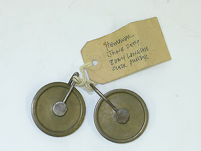A good pair of matched period 8-day GUT LINE SPOOLS/PULLEYS from Longcase clock
