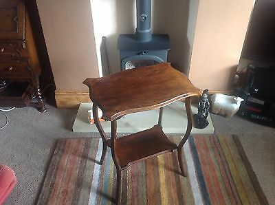 Edwardian Solid Mahogany Occasional Table.