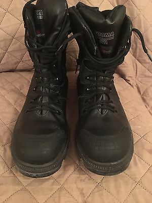 """Mens """"Secor steel Toe Cap work Boots) worn once size 12/46 Stability Support"""