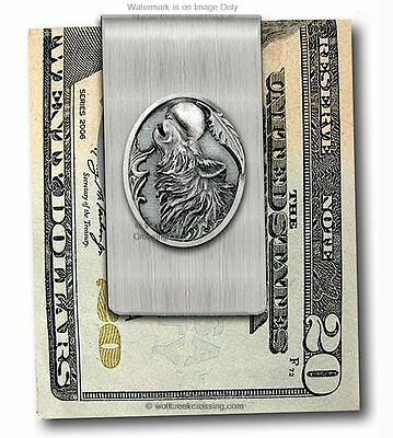 MIDNIGHT MOON WILD WOLF STAINLESS STEEL MONEY CLIP WOLVES NATURE FREE SHIP sm z