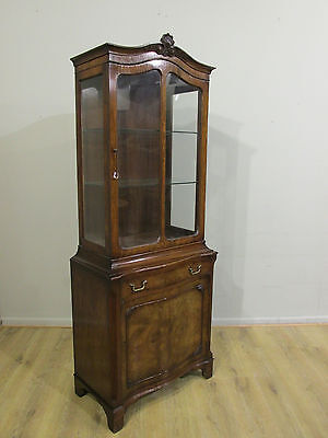 Stunning Quality Antique Walnut Display Cabinet
