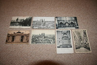 A collection of Tournai postcards from the early 1900s.