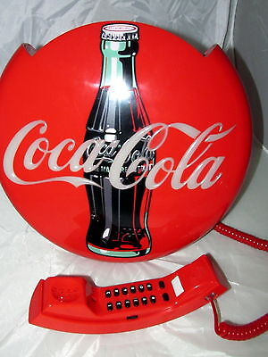 1995 Coca Cola Blinking Light Disk Telephone Works Coke Modular Gently Used Iob