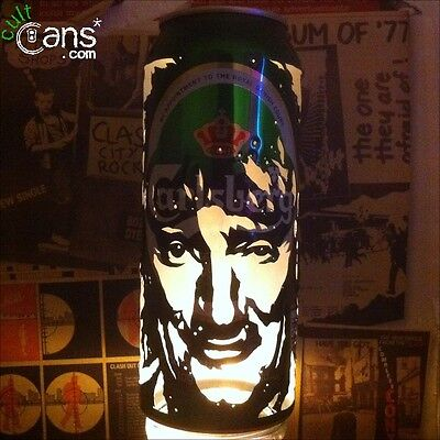 Rod Stewart Beer Can Lantern! The Faces Mod Pop Art Portrait Candle Lamp