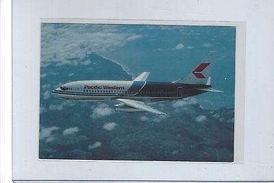 Pacific Western Airlines issued Boeing 737 cont/l   postcard #2