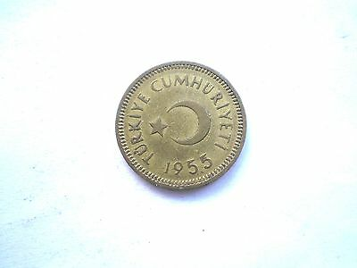 Early 10 Kurus Coin From Turkey-Dated 1955 -Nice