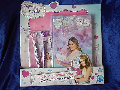 Disney Violetta Journal Diary with accessories Notebook Hardback Gift Set NEW