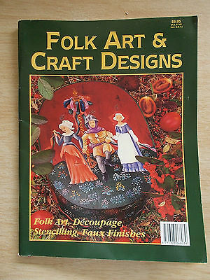 Folk Art & Craft Designs~Decoupage~Stencilling~Faux Finishes~Projects~58pp P/B