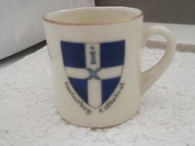 Model Of A  Mug With Handle Crested  Canterbury Cathedral  By Arcadian China