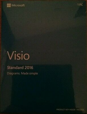 Microsoft Visio Standard 2016 Genuine Full UK Retail D86-05555 NEXT DAY DELIVERY