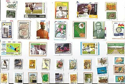 A Selection Of Mostly Recent Commemorative Kiloware Stamps From Ghana