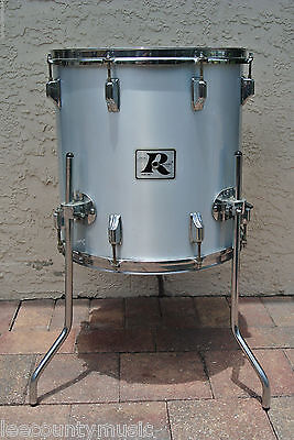 "1970's Rogers USA 16"" METALLIC SILVER MEMRILOC FLOOR TOM for YOUR DRUM SET! T660"