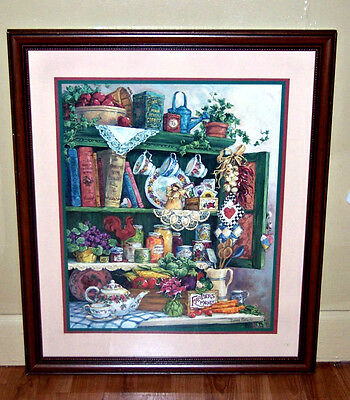 Home Interiors Farmers Market Fruit Picture Vintage Barbara Mock