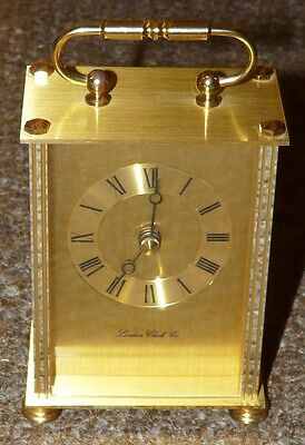 London Clock Company Brass Carriage Clock Circa 1987 Quartz Movement