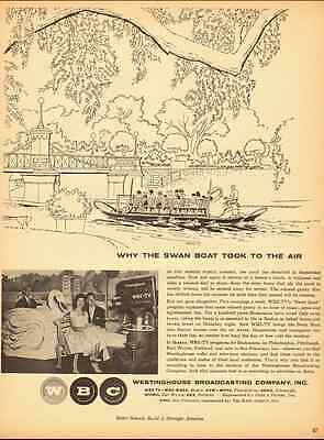 1954  ad, 'The Swan Boat', Boston TV show, Westinghouse Broadcasting Co.-021113