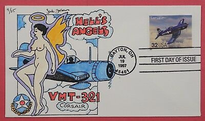 1997 #3142G Corsair Aircraft 32C Jack Follows Hand Painted Cachet Cover