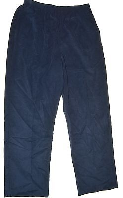 ALFRED DUNNER Size 16 Womens NEW Navy Casual Pants Corduroy 2 Pockets $46 #4K