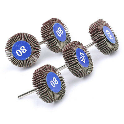 5pc Flapwheel Disc Set Dremel Tool rotary die grinder paint rust flapdisc wheel