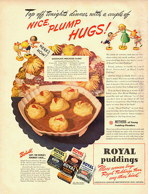 1941 vintage ad, ROYAL PUDDING, Chocolate Molasses Float- 052013