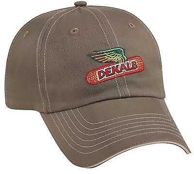 DEKALB SEED *PUTTY COLORED TWILL* Trademark Logo CAP HAT *BRAND NEW* DS08