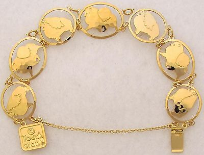 Pomeranian Jewelry Gold Bracelet by Touchstone Dog Designs