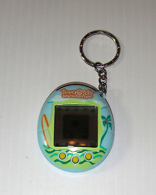 tamagotchi connection blue surf palm tree new battery bandai 2004