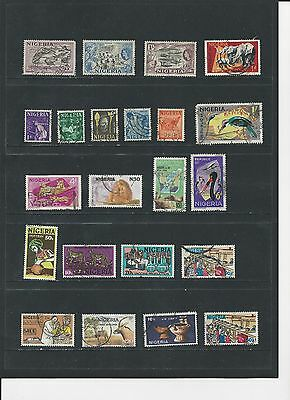 NIGERIA- SELECTION OF USED STAMPS - NIG2ab - 2SCANS