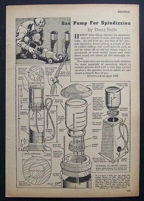 Visible Gas Pump for Spindizzies Tether Race Car 1941 How-To build PLANS