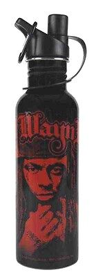 Lil Wayne Black With Red Photo Logo Stainless Steel 25 Oz. Water Bottle New