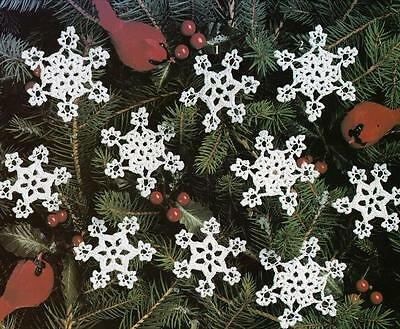 Quick EZ CROCHET PATTERNS Lacy SNOWFLAKES Christmas Ornament Gifts! SNOWFLAKE