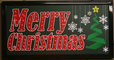 Merry Christmas star led lighted sign home decor hanging color message display