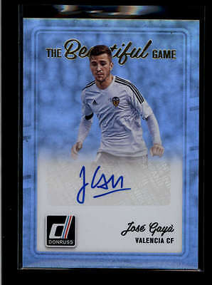 Jose Gaya 2016 Panini Donruss Soccer The Beautiful Game Autograph Auto G4525