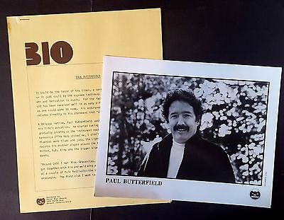 RARE Paul Butterfield Press Kit for North-South! Photo L48