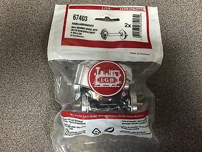 LGB 67403 Ball Bearing Wheels pkg of 2 with contacts New in Bag